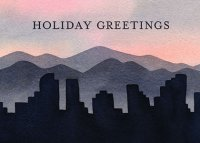 Morning in Denver Christmas Holiday Card