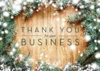Thanks for the Business! Holiday Greeting Card