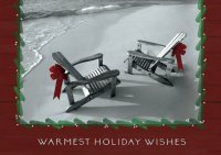 Beachfront Holiday Greeting Card