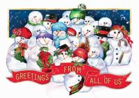 Frosty Crew Holiday Card