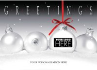 Frosty Display Company Logo Holiday Card