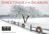 Winter's Appearance Business Logo Holiday Card