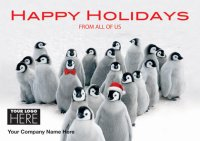 Penguin Parade Logo Holiday Card