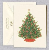 Merry Christmas Tree Holiday Card by William Arthur