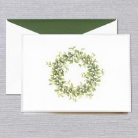Snowberry Wreath Holiday Card by William Arthur