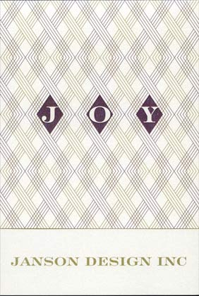 Checkerboard THREADED WITH JOY Holiday Card