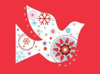 Contemporary Dove Charity Holiday Card