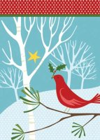 Red Bird Charity Holiday Card