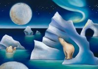 Polar Bear Ice Capades Charity Holiday Card