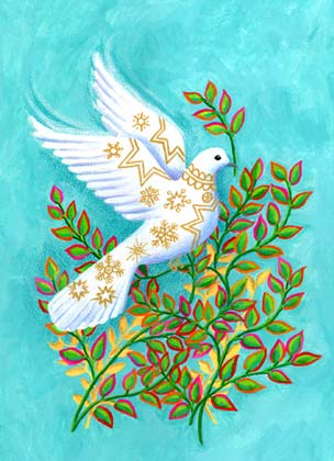 Peace Dove Charity Holiday Card