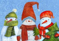 Snow Buddies Charity Holiday Card
