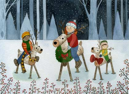 Reindeer Riders Charity Holiday Card