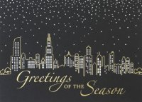 Shimmering City Lights of Chicago Holiday Cards