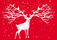 Dreamy Deer Environmental Defense Fund Charity Holiday Card