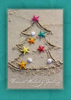 Tropical Tree Beach Holiday Card