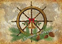 Nautical Greetings Christmas Holiday Cards