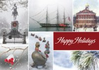 Scenes of Boston Holiday and Christmas Cards
