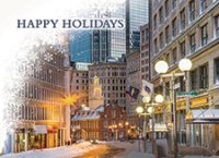 Downtown Boston Christmas Holiday Cards
