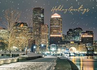 Harbor Walkway Boston Holiday Cards