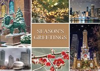 Scenes of Chicago Christmas Holiday Cards