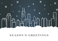 Chicago Snowflakes Business Holiday Cards