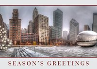 Millennium Park Cloud Gate Chicago Holiday Cards