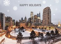 Philadelphia Snow City Business Holiday Cards