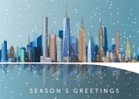 New York City Skyline Business Holiday Cards