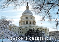 Snow On The Hill U.S. Capitol Washington DC Holiday Cards