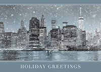 Manhattan Winter Night Business Holiday Cards