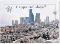 Seattle Under Snow business Holiday Card