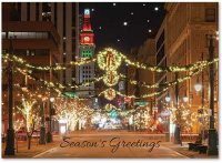 Denver Holiday Glow along 16th Street Mall Christmas Card