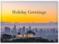 Los Angeles Morning Skyline Holiday Card
