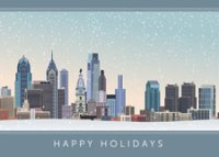 Philadelphia City Skyline Holiday Card