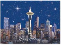 Seattle Under Stars Holiday Card