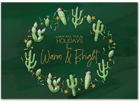 Cactus Country Holiday Greetings Card
