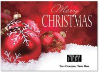 Christmas Ball Christmas Logo Card