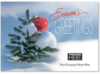 Mighty Green Tree Holiday Logo Card