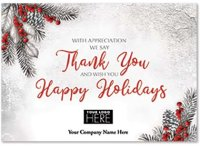 With Gratitude Holiday Thank You Logo Card