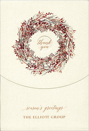 Surrounded by Gratitude Checkerboard Holiday and Christmas Cards