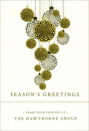 Dotted in Ornamental Checkerboard Holiday and Christmas Cards