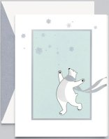 Prancing Polar Bears William Arthur Holiday Cards