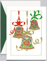 Crane ELEGANT BELLS Christmas Holiday Card