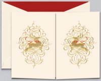 Crane LEAPING REINDEER Holiday Card