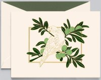 Crane DOVE IN OLIVE TREE Holiday Card