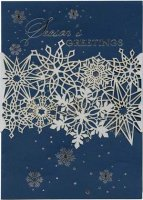 Intricate Snow Laser Cut Holiday Cards