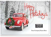 Rolling Home Happy Holidays Logo Card