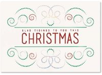 Light Bright Christmas Holiday Greetings Card