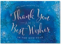 Cool Cobalt Holiday Thank You Card