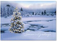 Breathtaking Seasons Greetings Holiday Card